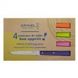 """Set Opinel 4 Facas de Mesa Nº 125 """"Bon Appétit"""" Pop"""