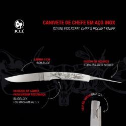 Canivete para Chefe em Aço Inox