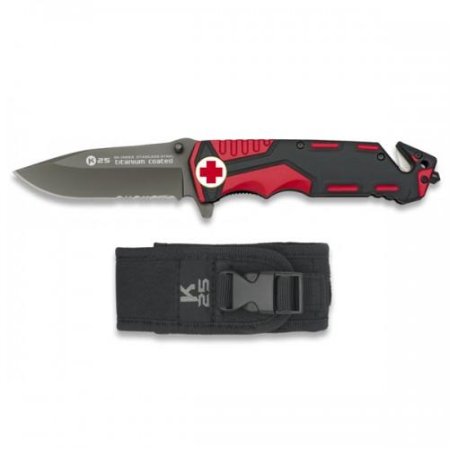 RUI - K25 Navalha Táctica - Cruz Vermelha