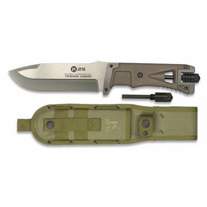 RUI - K25 Faca Táctica Coyote com firestarter