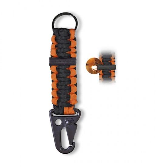 Porta-chaves c/ Paracord e Firesteel