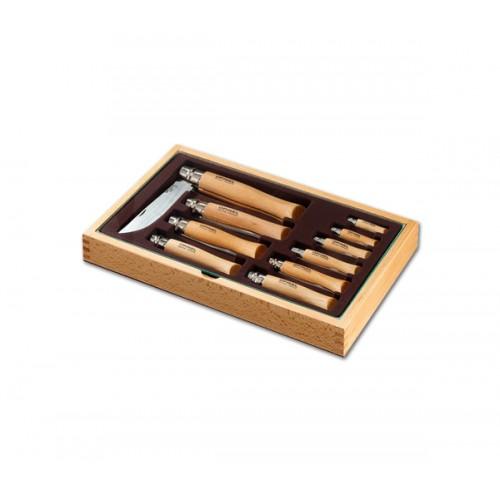 Opinel Caixa de Madeira com 10 canivetes