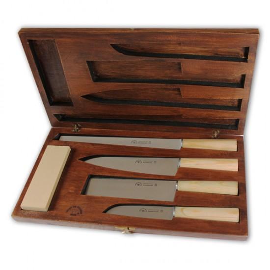 Ebony Prisma - Conjunto de facas para Chef